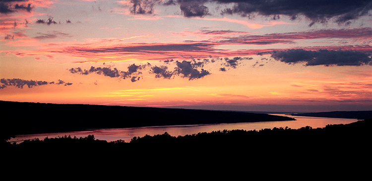 Cayuga Lake Sunset from Baker Lab roof